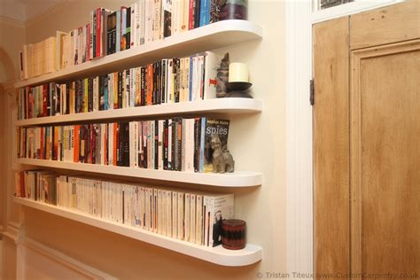 Floating Bookcase Shelves fitted floating shelves empatika