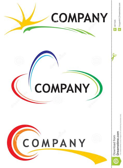 templates for logos corporate logo templates stock vector image of icon