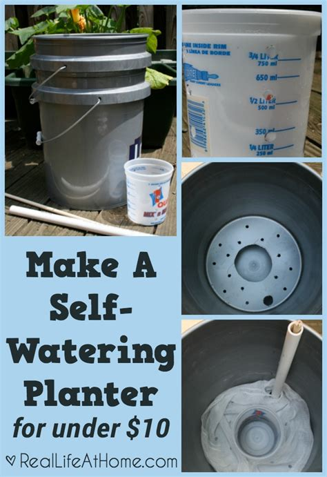 how to make a self watering planter how to make a self watering planter for 10 real at home