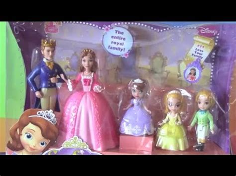 Princess Family Set 4 sofia the toys set from disney sofia and