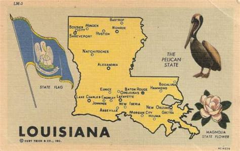 printable louisiana postcards maps update 21051488 tourist attractions map in