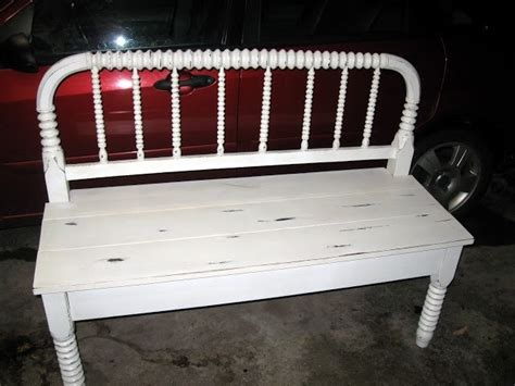 bed frame bench old bed frame turned into a bench