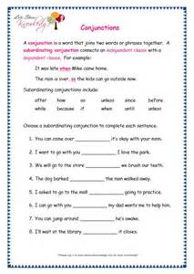 grade 3 grammar topic 19 conjunctions worksheets lets