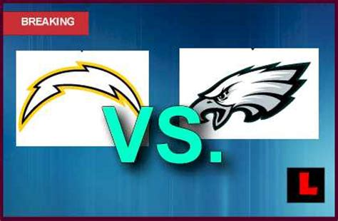 chargers score tonight chargers vs eagles 2013 michael vick narrows score with