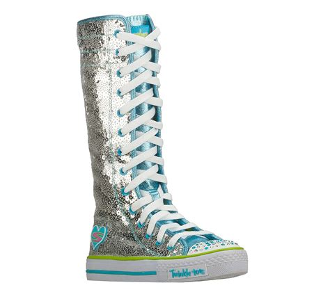 skechers knee high sneakers buy skechers twinkle toes shuffles lolly dolly high top