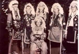 This is cherokee indian tribe members including chief ryers