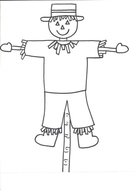 scarecrow template templates crafts  preschool kids