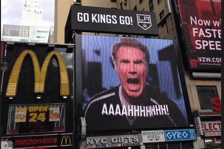 kings offer hope of checking world cup run riot daily mail online kings troll rangers with will ferrell video outside