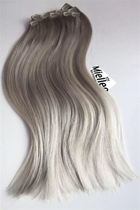 ash blonde hair extensions medium ash blonde balayage clip in extensions straight