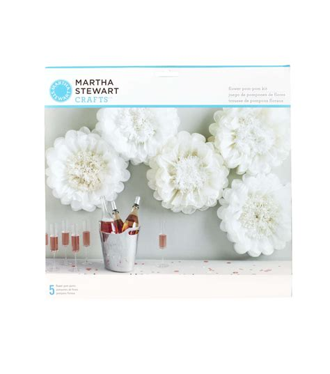 martha stewart tissue paper pom pom kit white flower jo ann