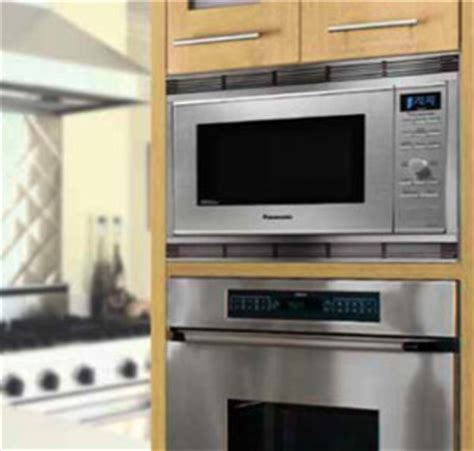 can you put a countertop microwave in a cabinet panasonic nn sn661saz stainless 1200w 1 2 cu