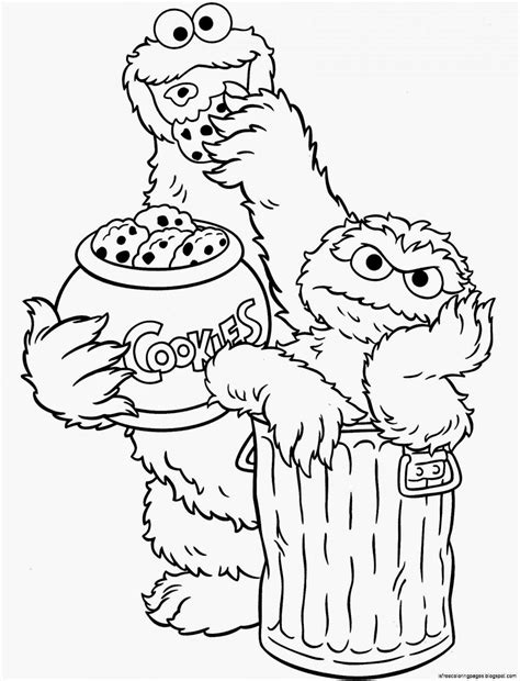 printable coloring pages sesame street sesame street coloring pages free coloring pages
