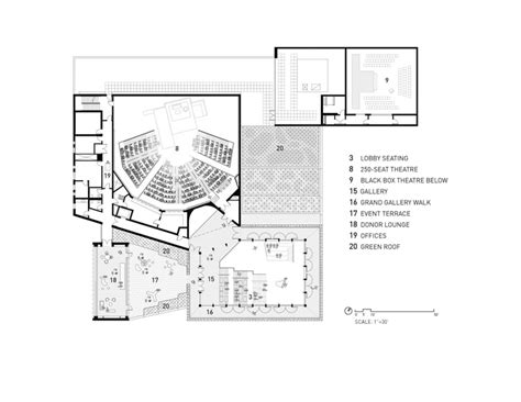 theatre floor plans writers theatre studio gang architects archdaily