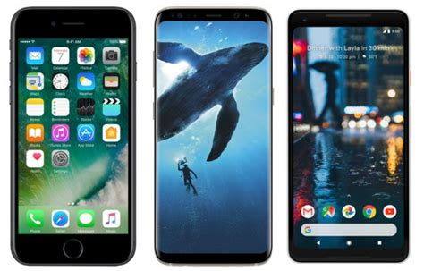 pixel 2 vs samsung galaxy s8 plus vs apple iphone 7 price in india specification and