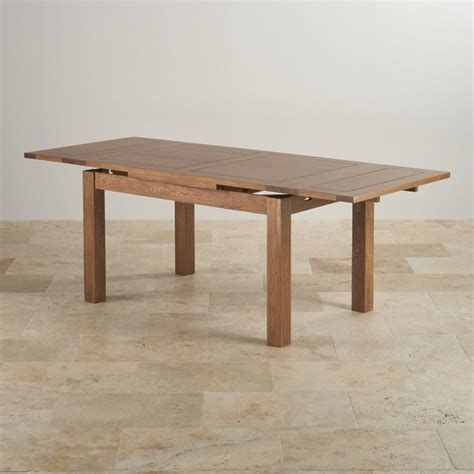 Rustic Extending Dining Table In Real Oak Oak Furniture Land Oak Furniture Land Dining Table