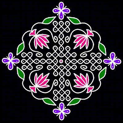 dot kolangal pattern dots flower and search on pinterest
