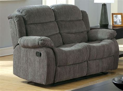 gray reclining loveseat millville gray chenille reclining loveseat from furniture