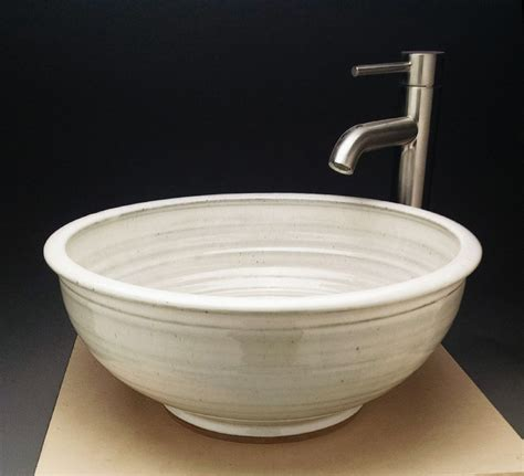 Handmade Vessel Sinks - custom handmade pottery vessel sink designed for your