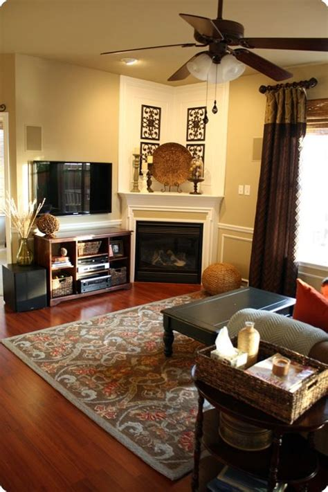 decorating a corner ideas to decorate a corner fireplace mantle with