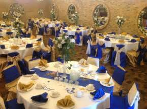 royal blue and ivory wedding decorations picture gallery decorated interior for wedding