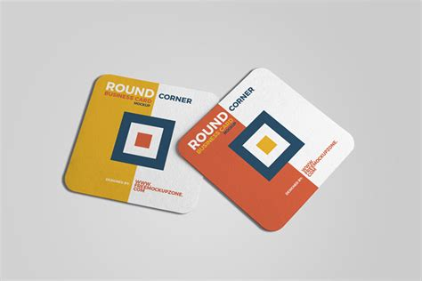 square business card mockup template business