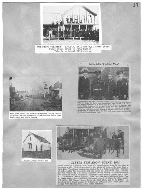 elm town scenes  portal  texas history