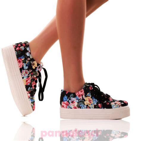 scarpe fiori scarpe donna sneakers fitness ginnastica doppio fondo