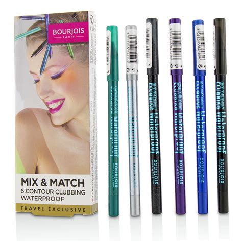 Bourjois Cocktail Cosmetic Sets by Mix Match 6 Contour Clubbing Waterproof Eye Pencil Set By