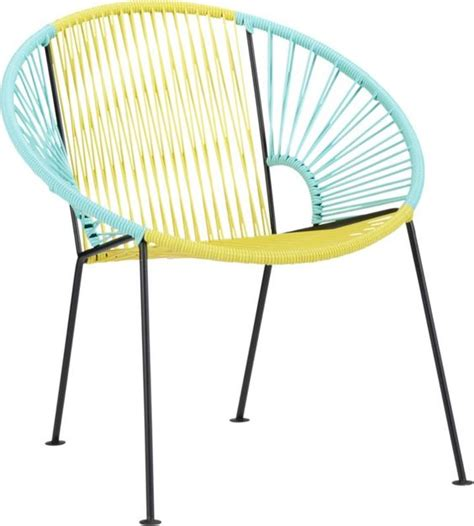 cb2 outdoor furniture ixtapa yellow aqua lounge chair in outdoor sale cb2