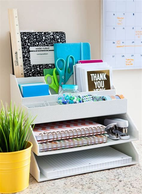 4 Desk Organization Ideas And 25 Exles Shelterness Organized Desk Ideas