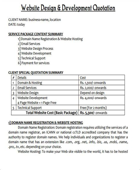 website quotation 43 quotation sles in pdf sle templates