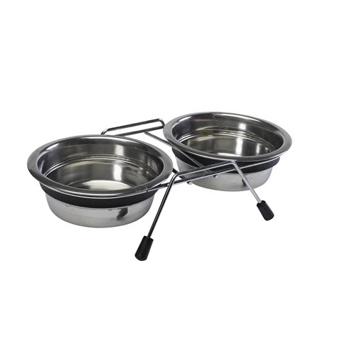 raised dishes anti slip raised bowls petface stainless steel diner feeding dishes