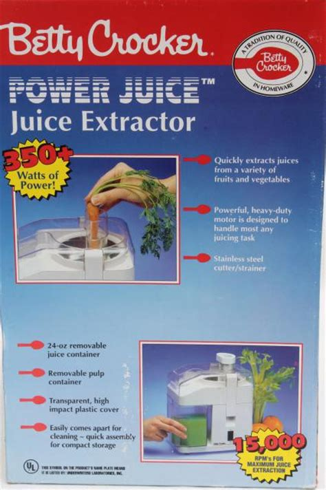 Modern Kitchen betty crocker power juicer juice extractor bc 1480 clean