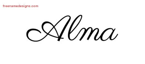 alma archives free name designs