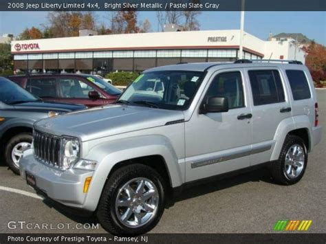 silver jeep liberty 2008 bright silver metallic 2008 jeep liberty limited 4x4