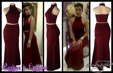 african hairstyles for matric dance 2 piece burgundy matric dance dress choker neckline crop