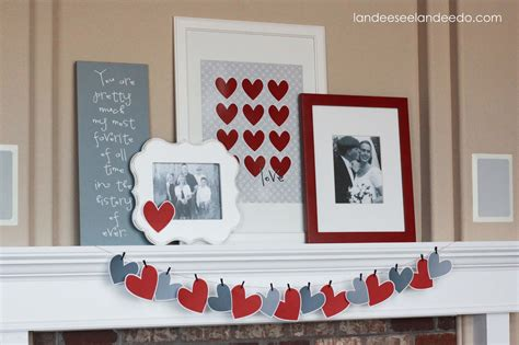 valentines home decorations valentine heart garland landeelu com
