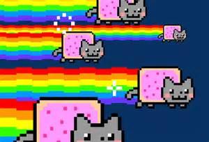 Nyan Cat Nyan Cat Exploding Things Exploding W Matt