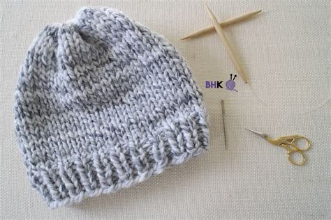 easy knitted beanies free patterns easy knit hat b hooked knitting