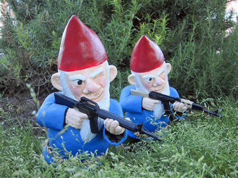 Garden Gnomes With Guns | combat garden gnome