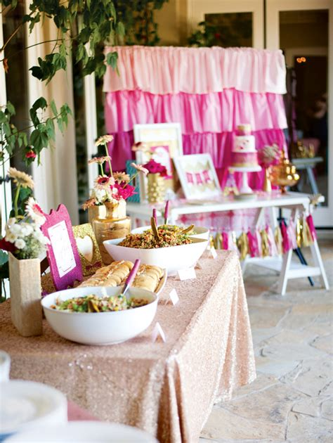 Pink And Gold Baby Shower by Pink Glitter Gold Royal Baby Shower Part 2 Food