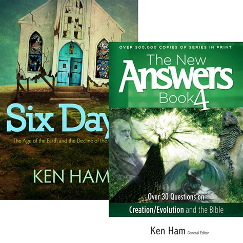 the new answers book 0890517886 six days and the new answers book 4 combo answers in genesis