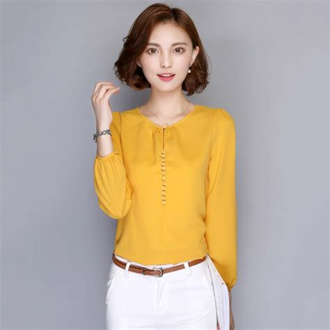 Blouse Siffon 01 plus size fashion casual blouses sleeve autumn chiffon blouse shirt