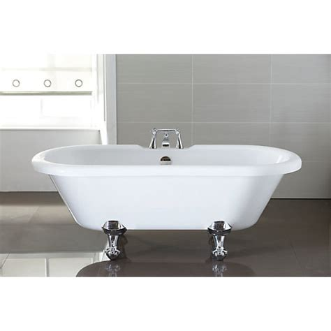 wickes shower bath wickes decadent ended roll top bath white 1720mm wickes co uk
