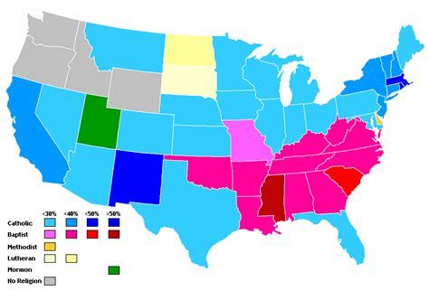 usa religion map my map of america into four regions your agreements and