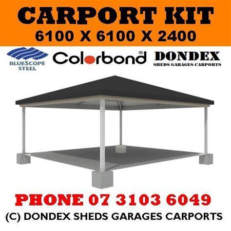 dondex hip roof carport kit 6 1x6 1x2 4 colorbond