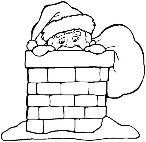 Coloring Pages Santa Chimney | free coloring pages of christmas chimney