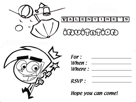 coloring page birthday invitation free invitations coloring pages to kids