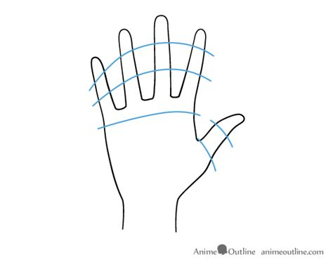 anime hand how to draw anime hands male and female anime outline
