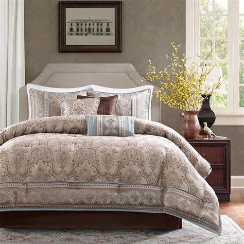 beautiful 7pc modern elegant brown blue stripe white grey